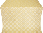 Lace silk (rayon brocade) (white/gold)