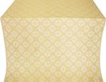 Lace silk (rayon brocade) (white/gold)