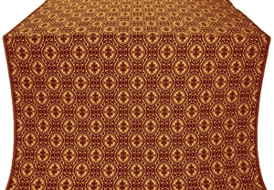 Simbirsk metallic brocade (claret/gold)