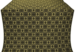 Simbirsk silk (rayon brocade) (black/gold)