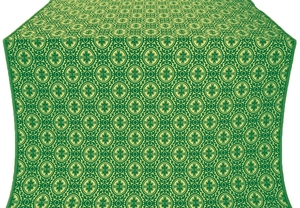 Simbirsk silk (rayon brocade) (green/gold)