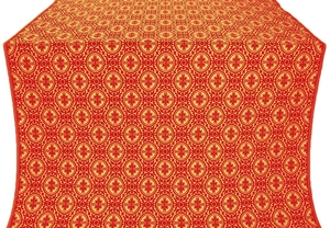 Simbirsk silk (rayon brocade) (red/gold)