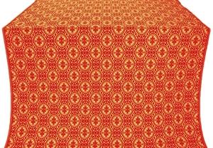 Simbirsk silk (rayon brocade) (red/gold)