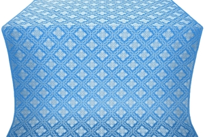 Mirgorod metallic brocade (blue/silver)