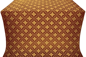 Mirgorod metallic brocade (claret/gold)