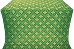 Mirgorod metallic brocade (green/gold)