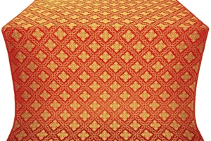 Mirgorod metallic brocade (red/gold)