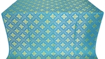 Mirgorod silk (rayon brocade) (blue/gold)