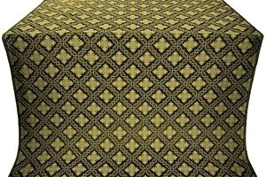 Mirgorod silk (rayon brocade) (black/gold)