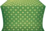 Mirgorod silk (rayon brocade) (green/gold)