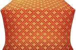 Mirgorod silk (rayon brocade) (red/gold)