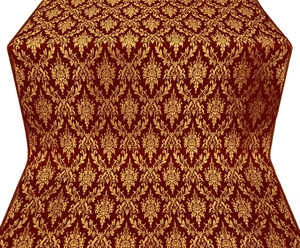 Small Tavriya metallic brocade (claret/gold)