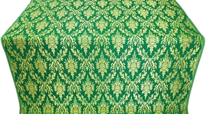 Small Tavriya metallic brocade (green/gold)