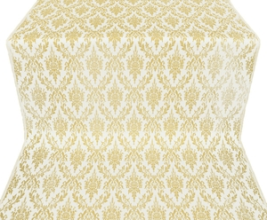 Small Tavriya metallic brocade (white/gold)