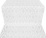 Small Tavriya metallic brocade (white/silver)