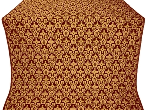 Venets silk (rayon brocade) (claret/gold)