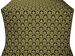 Venets silk (rayon brocade) (black/gold)