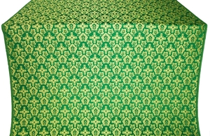 Venets silk (rayon brocade) (green/gold)