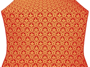 Venets silk (rayon brocade) (red/gold)