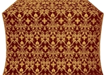 Fevroniya metallic brocade (claret/gold)