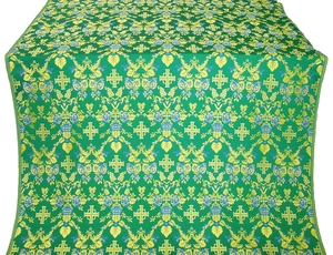 Fevroniya metallic brocade (green/gold)