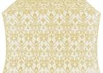 Fevroniya metallic brocade (white/gold)
