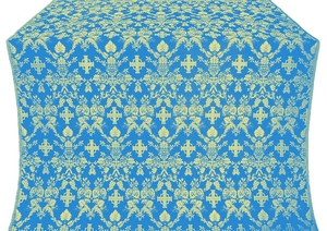 Fevroniya silk (rayon brocade) (blue/gold)