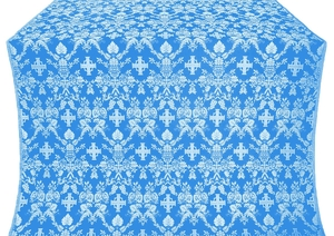 Fevroniya silk (rayon brocade) (blue/silver)
