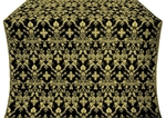 Fevroniya silk (rayon brocade) (black/gold)