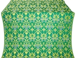 Fevroniya silk (rayon brocade) (green/gold)