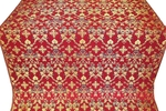 Fevroniya silk (rayon brocade) (red/gold)