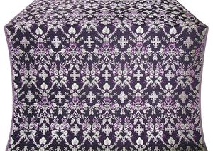 Fevroniya silk (rayon brocade) (black/silver)