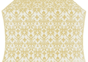 Fevroniya silk (rayon brocade) (white/gold)