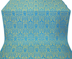 Ligouriya metallic brocade (blue/gold)