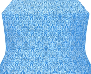 Ligouriya metallic brocade (blue/silver)