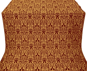 Ligouriya metallic brocade (claret/gold)