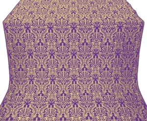 Ligouriya metallic brocade (violet/gold)