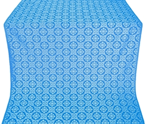 Poutivl' metallic brocade (blue/silver)
