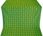 Poutivl' metallic brocade (green/gold)