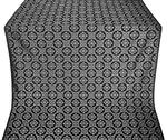 Poutivl' metallic brocade (black/silver)