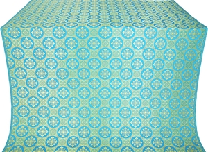Poutivl' silk (rayon brocade) (blue/gold)