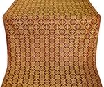 Poutivl' silk (rayon brocade) (claret/gold)
