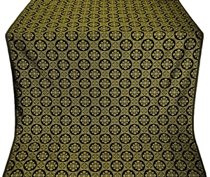 Poutivl' silk (rayon brocade) (black/gold)