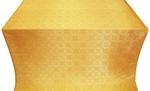 Poutivl' silk (rayon brocade) (yellow/gold)