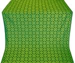 Poutivl' silk (rayon brocade) (green/gold)
