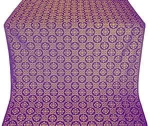 Poutivl' silk (rayon brocade) (violet/gold)