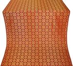 Poutivl' silk (rayon brocade) (red/gold)