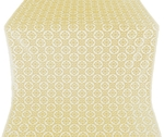 Poutivl' silk (rayon brocade) (white/gold)