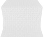 Poutivl' silk (rayon brocade) (white/silver)