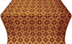 Piligrim metallic brocade (claret/gold)